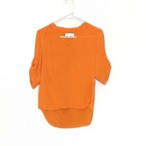 Amanda Uprichard 100% Silk high-low blouse S